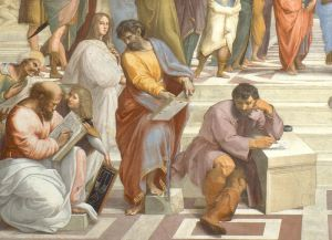 01b-Averroes-Pitagoras-estudiante-Hypatia-Parménides-y-Heráclito-como-migue-Angel