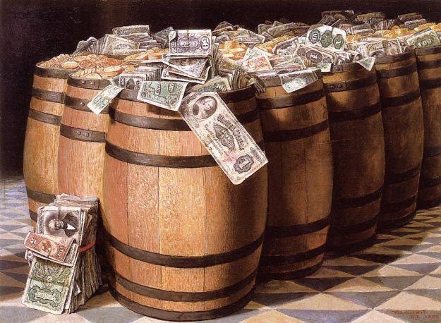 """Money the Burn"" (1893), óleo de Victor Dubreuil"